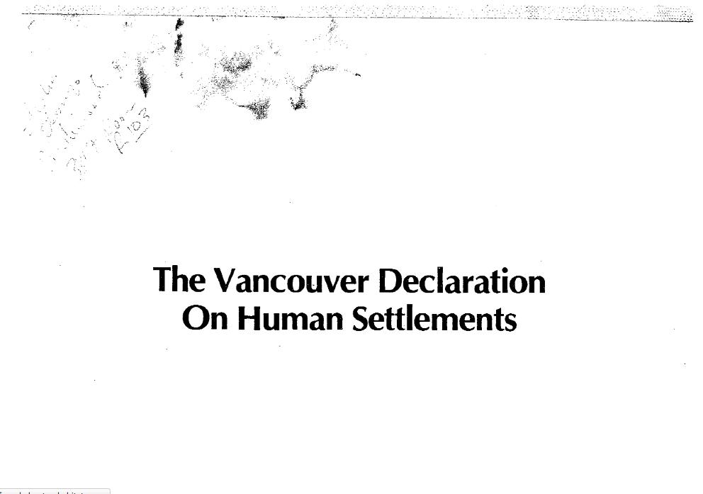 Vancouver Declaration - the UN's PDF