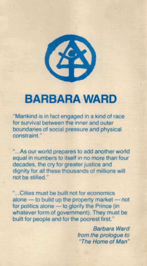Barbara Ward - Habitat '76 -quotes